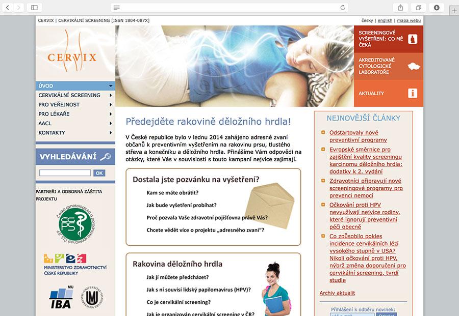 Cervix.cz: systém informační podpory Národního programu screeningu karcinomu děložního hrdla v České republice