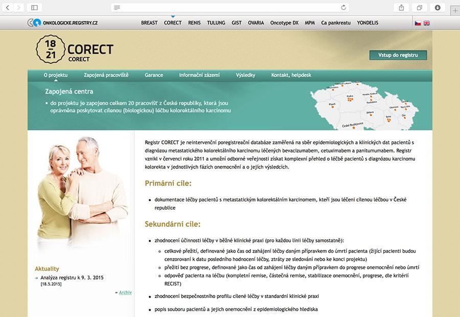 Corect: Klinický registr pacientů s kolorektálním karcinomem (CRC), kteří jsou léčeni cetuximabem, bevacizumabem a/nebo panitumumabem