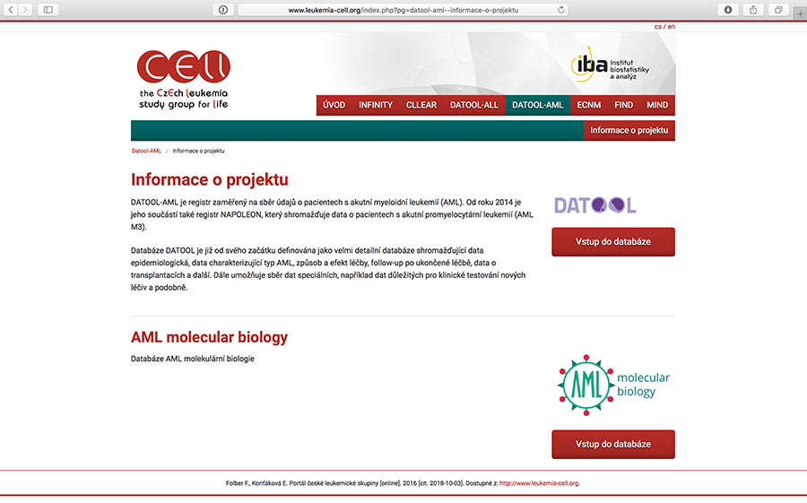 DATOOL AML: klinický registr pacientů s akutní myeloidní leukemií (AML)
