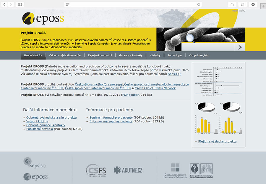EPOSS: multicentre research database for implementation of parametric monitoring of severe sepsis treatment directly in clinical practice