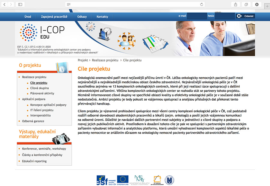 I-COP: Educational and information platform for comprehensive cancer centres for the support and modernisation of education in medical and allied domains