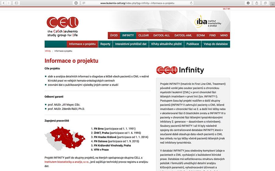 Infinity: klinický registr pacientů s chronickou myeloidní leukemií (CML)