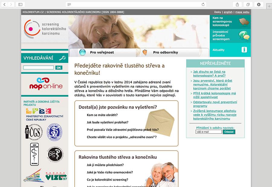 Kolorektum.cz: systém informační podpory Národního programu screeningu kolorektálního karcinomu v České republice