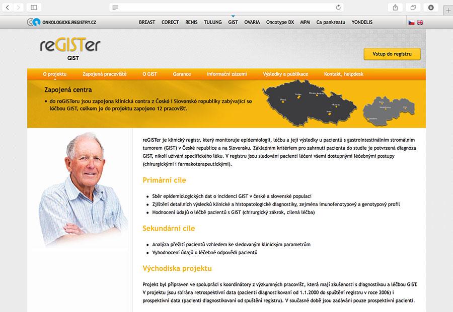 reGISTer: klinický registr, který monitoruje epidemiologii, léčbu a její výsledky u pacientů s gastrointestinálním stromálním tumorem (GIST) v České republice a na Slovensku