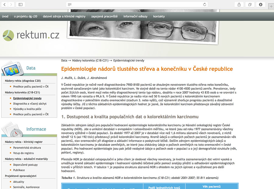 Rektum.cz: education of health care professionals on the issue of rectal cancer