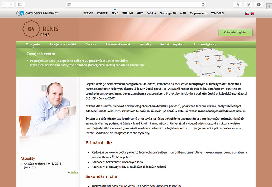 RENIS: klinický registr pacientů se zhoubným nádorem ledvin