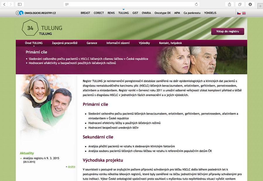 TULUNG: klinický registr pacientů s nemalobuněčným karcinomem plic (NSCLC), kteří jsou léčeni bevacizumabem, erlotinibem, gefitinibem, pemetrexedem, afatinibem a/nebo nintedanibem